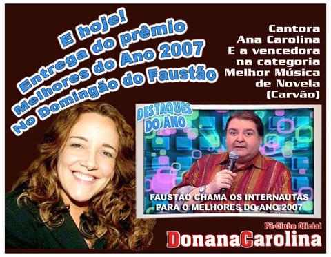 Divulgação Prêmio Melhores do Ano 2007